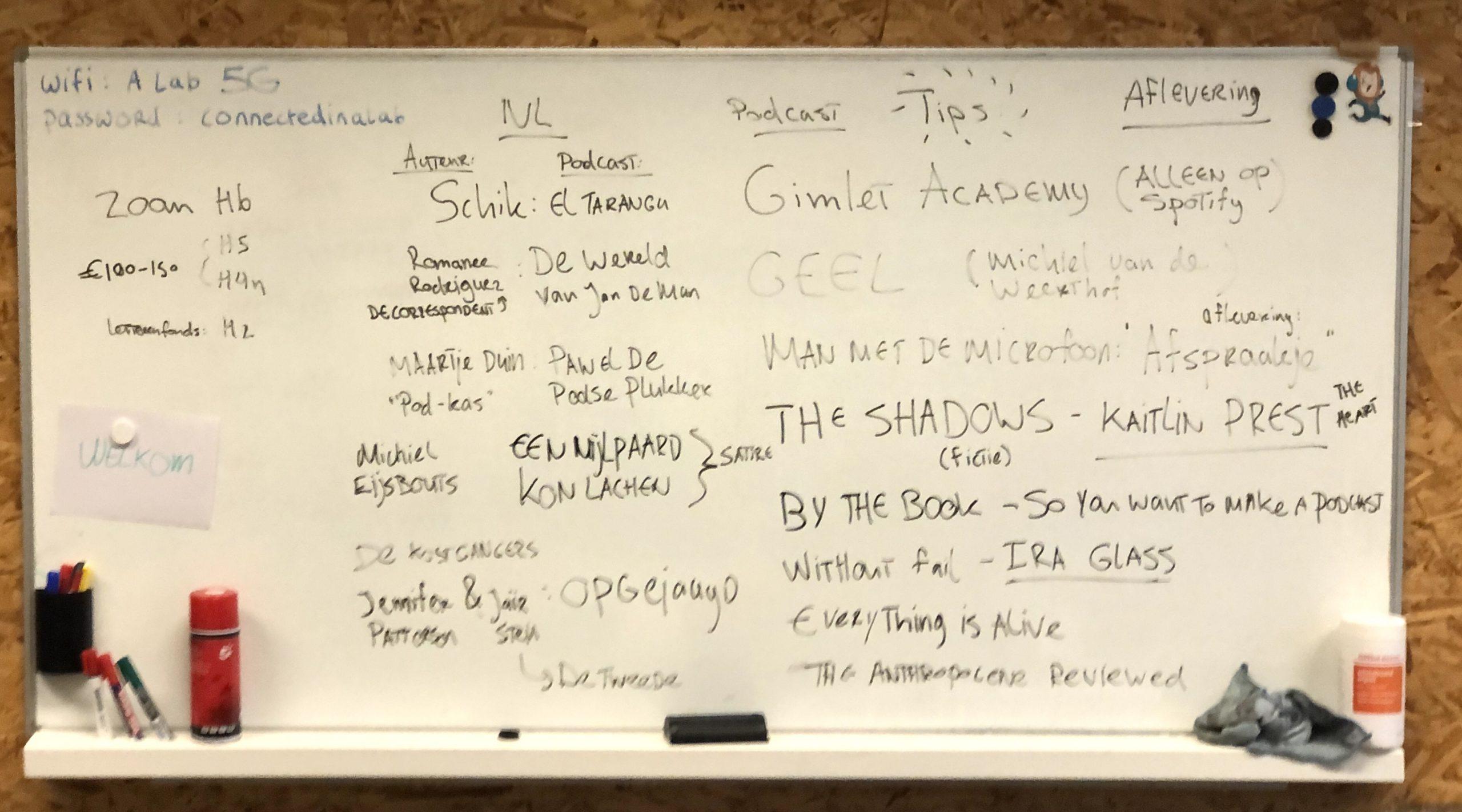 Workshop Schrijven voor Audio luistertips