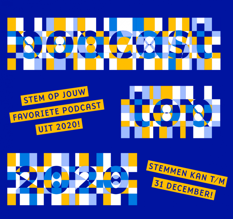 artwork van Podcast Top 2020 - stem op jouw favoriete podcast uit 2020. Stemmen kan tot 31 december